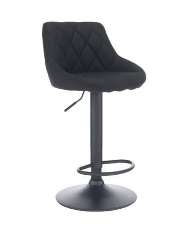 Barová stolička látka čierna/čierna TERKAN poškodený tovar