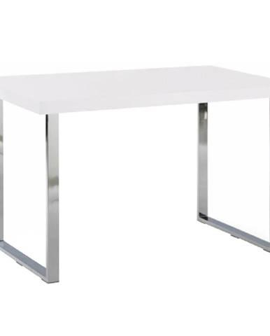 Jedálenský stôl biela HG/chróm TALOS poškodený tovar