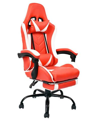 Kancelárske/herné kreslo čierna/biela/červená OZGE NEW