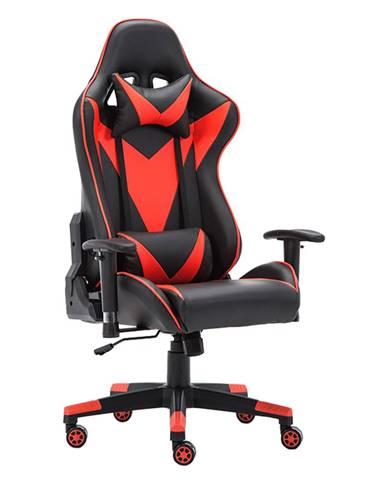 Kancelárske/herné kreslo s Bluetooth reproduktormi čierna/červená CARPI