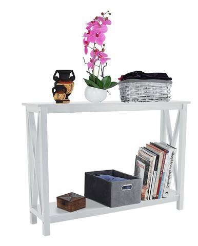 Konzolový stolík biela APOLOS