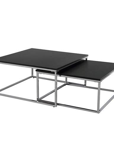 Set dvoch konferenčných stolíkov čierna/chróm AMIAS poškodený tovar