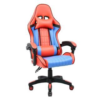 Kancelárske/herné kreslo modrá/červená SPIDEX