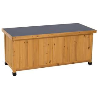 Záhradný úložný box jelša/strieborná NAKAN