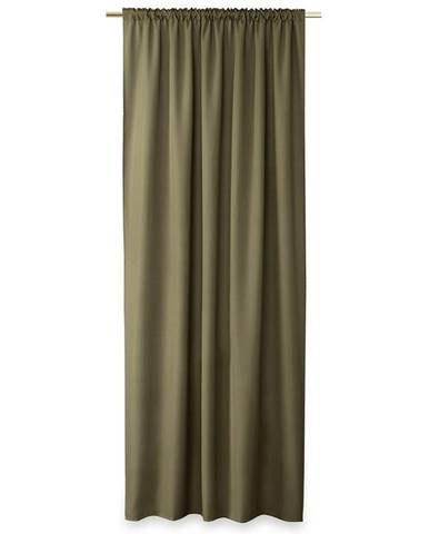 AmeliaHome Záves Oxford Pleat khaki, 140 x 250 cm