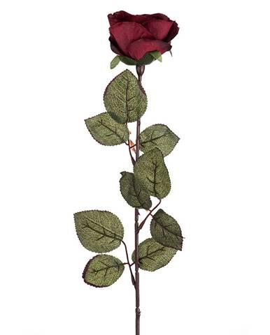 Umelá kvetina Ruža veľkokvetá 72 cm, vínová