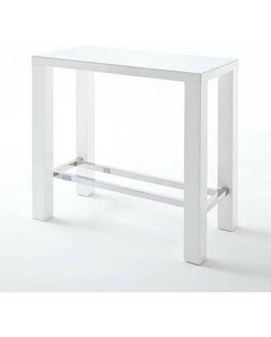 Barový stôl GERARD 2 biela/sklo
