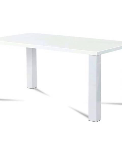 Sconto Jedálenský stôl SEBASTIAN biela vysoký lesk
