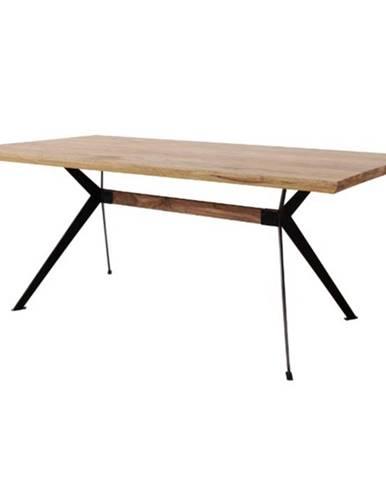 Jedálenský stôl YOGA prírodný palisander/čierna