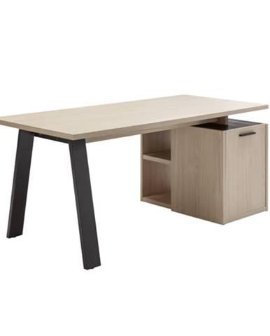 Pracovný stôl ENNIO dub elegance/antracit, s kontajnerom