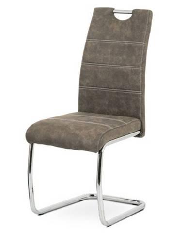 Jedálenská stolička GRAMA hnedá/kov