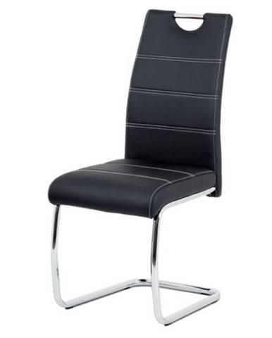 Jedálenská stolička GROTO čierna/strieborná