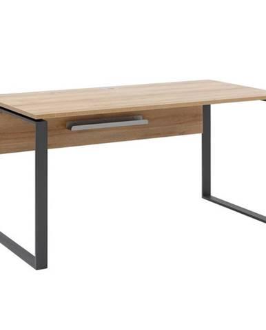 Písací stôl RYDER dub riviera/antracitová, 150x76 cm