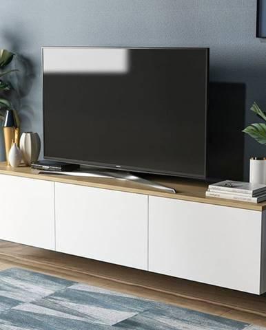 TV stolík NEON biela/dub