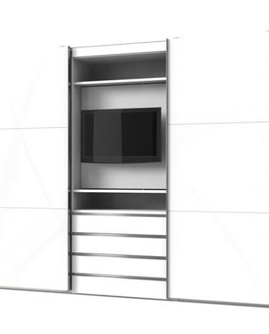 Šatníková skriňa MASON biela/biele sklo