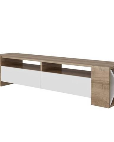 Televízny stolík SOSRUKO orech/biela