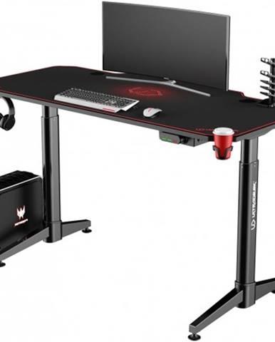 Herný stôl ULTRADESK LEVEL RED UDESK-LVA-RB + ZDARMA podložka pod myš a hub