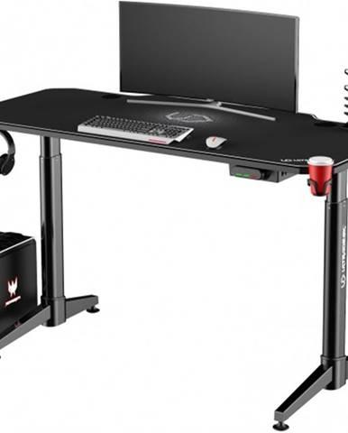 Herný stôl ULTRADESK LEVEL WHITE UDESK-LVA-WT + ZDARMA podložka pod myš a hub