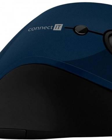 Bezdrôtová myš Connect IT CMO2700BL, ergonomická, modrá + Zdarma podložka Olpran