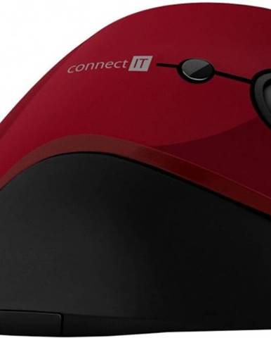 Bezdrôtová myš Connect IT CMO2700RD, ergonomická, červená + Zdarma podložka Olpran