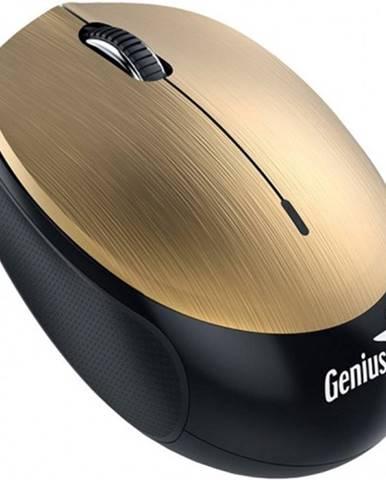 Bezdrôtová myš Genius NX-9000BTU, dobíjacia, zlatá + Zdarma podložka Olpran