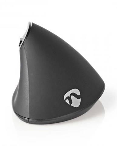 Káblová ergonomická myš Nedis ERGOMSWD100BK, čierna + Zdarma podložka Olpran