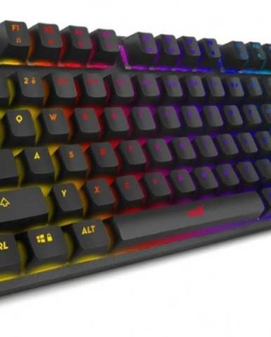 Herná klávesnica Niceboy ORYX K300X, CZ, čierna