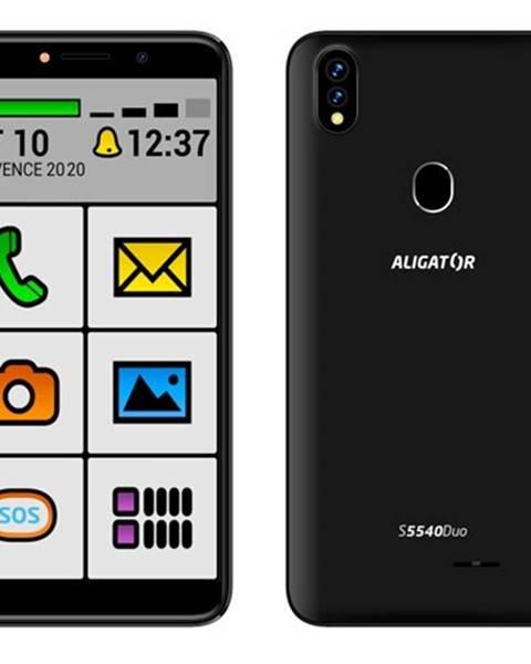Aligator Mobilný telefón Aligator S5540KS 2GB/32GB, Kids+Senior, čierny