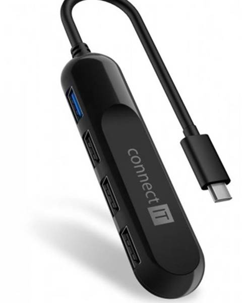 Connect IT Connect IT USB-C hub USB 3.0, externý, čierny