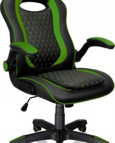 Herná stolička Connect IT Matrix Pro, zelená CGC-0600-GR + ZDARMA podložka pod myš a hub