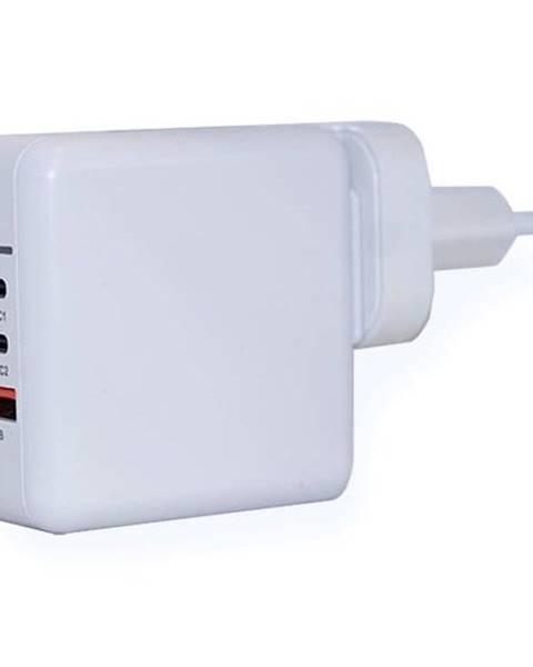 ER Power Nabíjačka do siete ER Power 65W GaN PD 2x USB-C, USB-A QC 3.0 biela