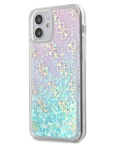 Kryt na mobil Guess 4G Liquid Glitter na Apple iPhone 12 mini -