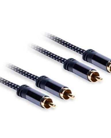 Kábel AQ 2xRCA/2xRCA, M/M, 3 m čierny