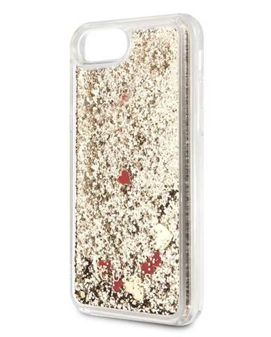 Kryt na mobil Guess Glitter Floating Hearts na Apple iPhone 8/SE