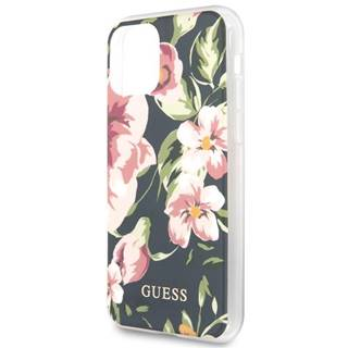 Kryt na mobil Guess Flower Shiny N.3 na Apple iPhone 11 ružový
