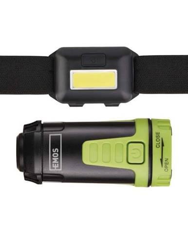 Čelovka  Emos Sada LED čelovky a kempingové LED svítilny