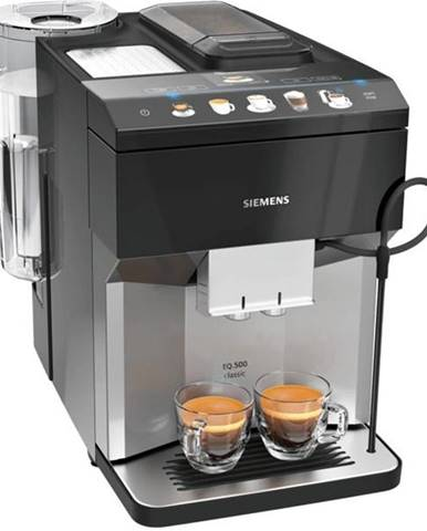 Espresso Siemens EQ.500 Classic Tp507rx4  čierne/nerez