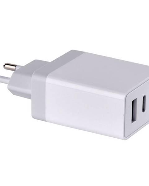EMOS Nabíjačka do siete Emos USB, USB-C PD, QC 3.0, 1,5–3,0A