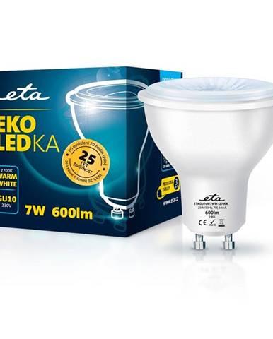 LED žiarovka ETA EKO LEDka bodová 7W, GU10, teplá biela