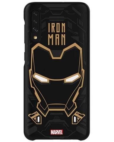 Kryt na mobil Samsung Smart Cover Iron Man na Galaxy A50 čierny