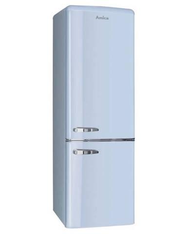 Kombinácia chladničky s mrazničkou Amica Retro Kgcr 387100 L modr