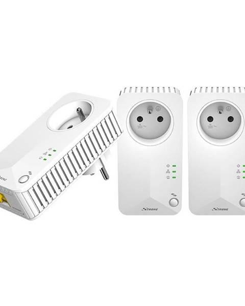 Strong Sieťový rozvod LAN po 230V Strong 500 TRI FR biely