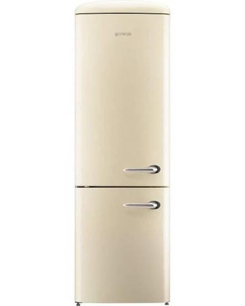 Gorenje Kombinácia chladničky s mrazničkou Gorenje Retro Ork192c-L krémov