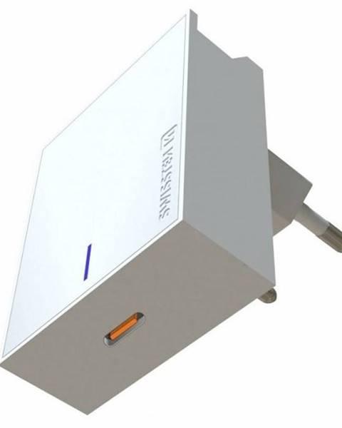 Swissten Nabíjačka do siete Swissten USB-C, 45W biela