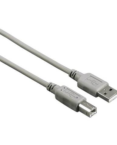 Kábel Hama USB / USB-B, 3m sivý