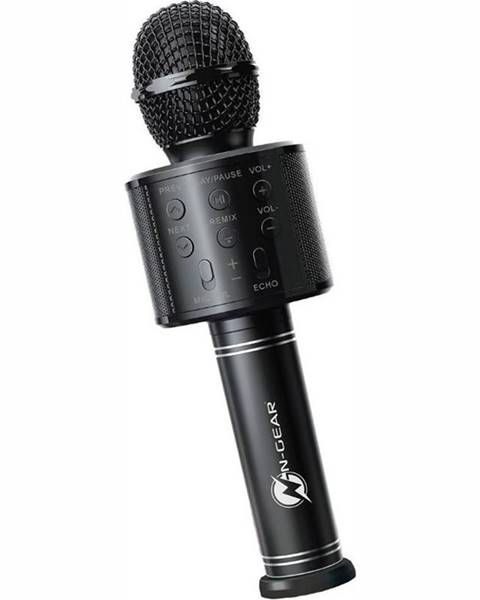 N-Gear Prenosný reproduktor N-Gear Sing Mic S10, karaoke mikrofon čierny