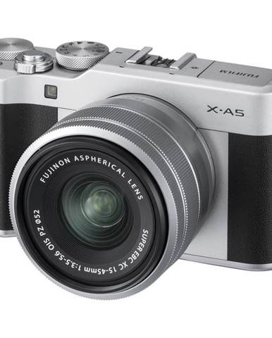 Digitálny fotoaparát Fujifilm X-A5 + 15-45 mm strieborn