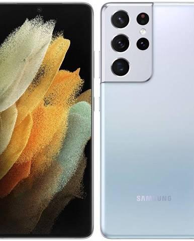 Mobilný telefón Samsung Galaxy S21 Ultra 5G 256 GB strieborný