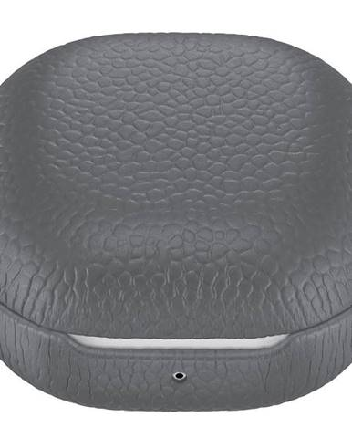 Púzdro Samsung Buds Live/Buds Pro, kožené sivé