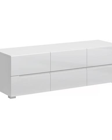 RTV stolík 6S/140 biela/biely extra vysoký lesk HG JOLK
